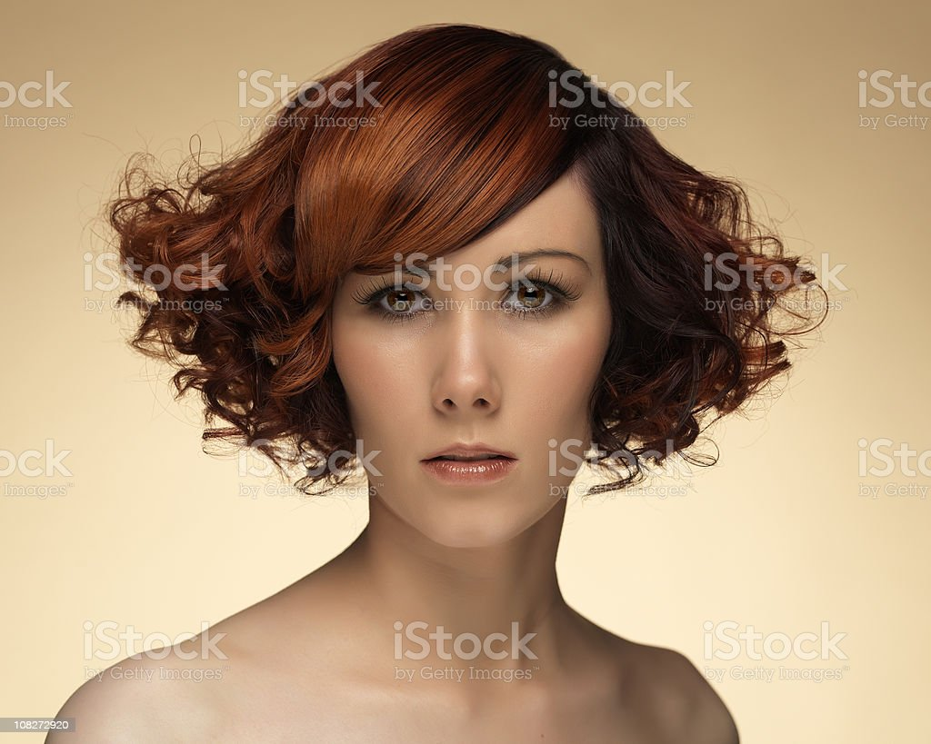 curly hairstyle royalty-free stock photo