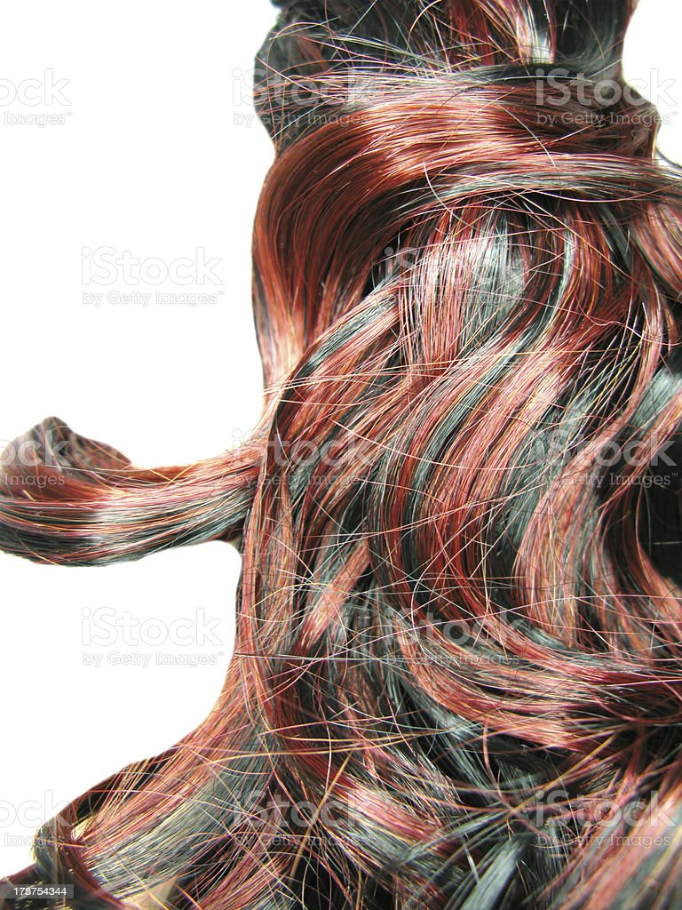 curly highlight hair texture background royalty-free stock photo