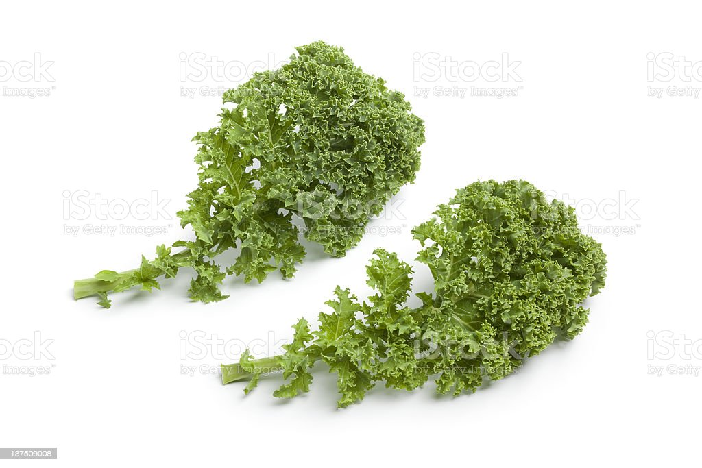 Curly kale leaves royalty-free stock photo