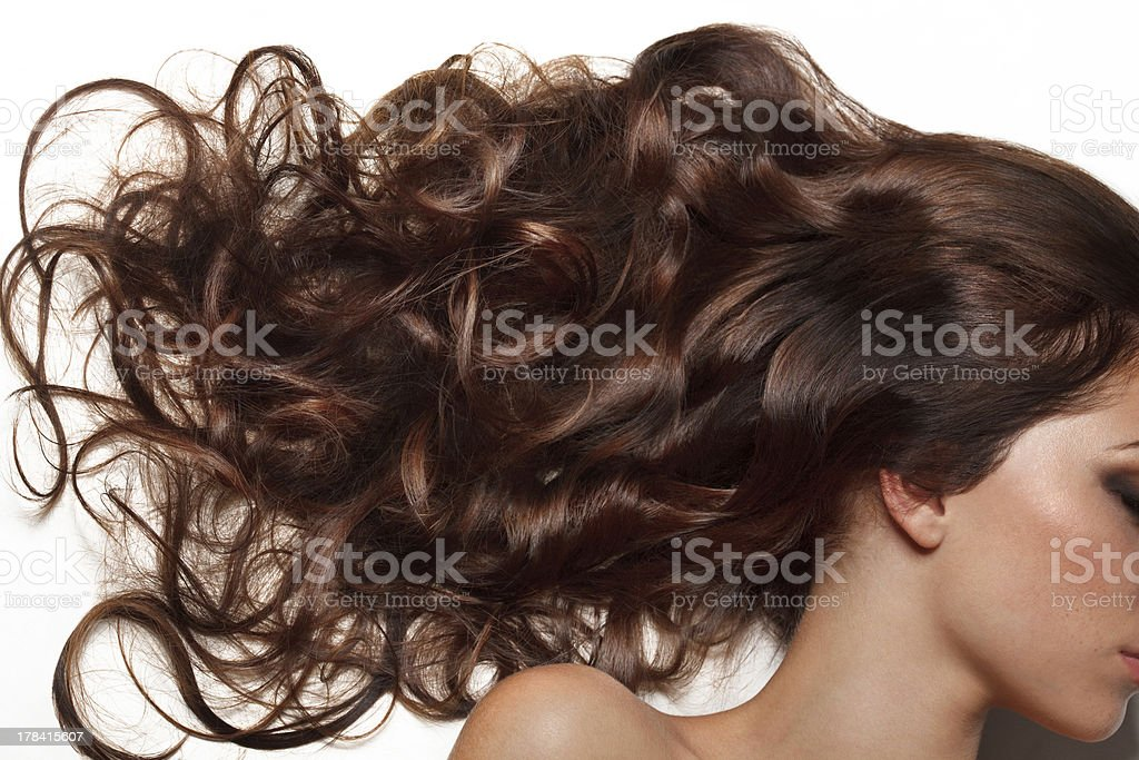 Curly Long Hair. High quality image. stock photo