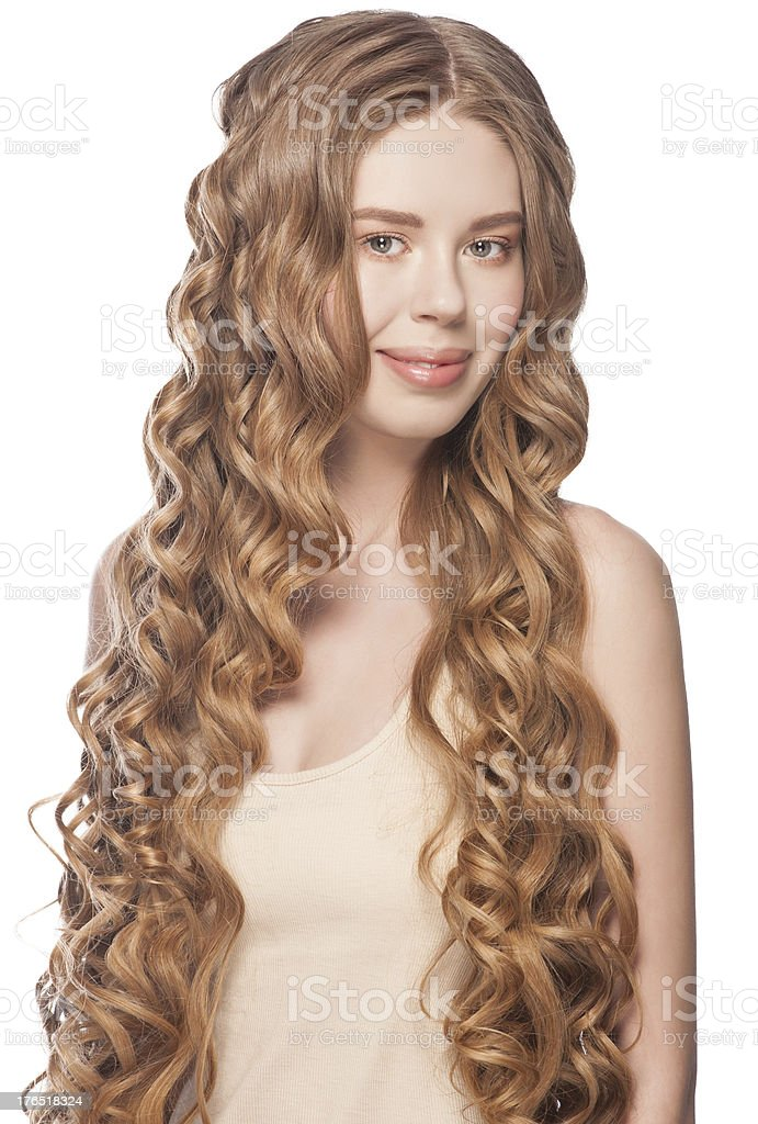 Curly Long Hair royalty-free stock photo