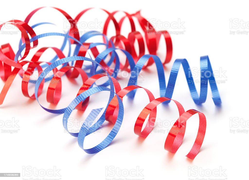 Curly ribbons royalty-free stock photo