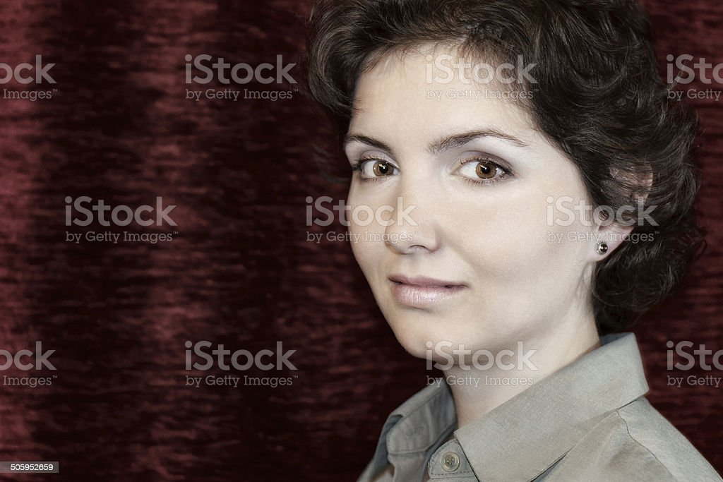 Curly Woman stock photo