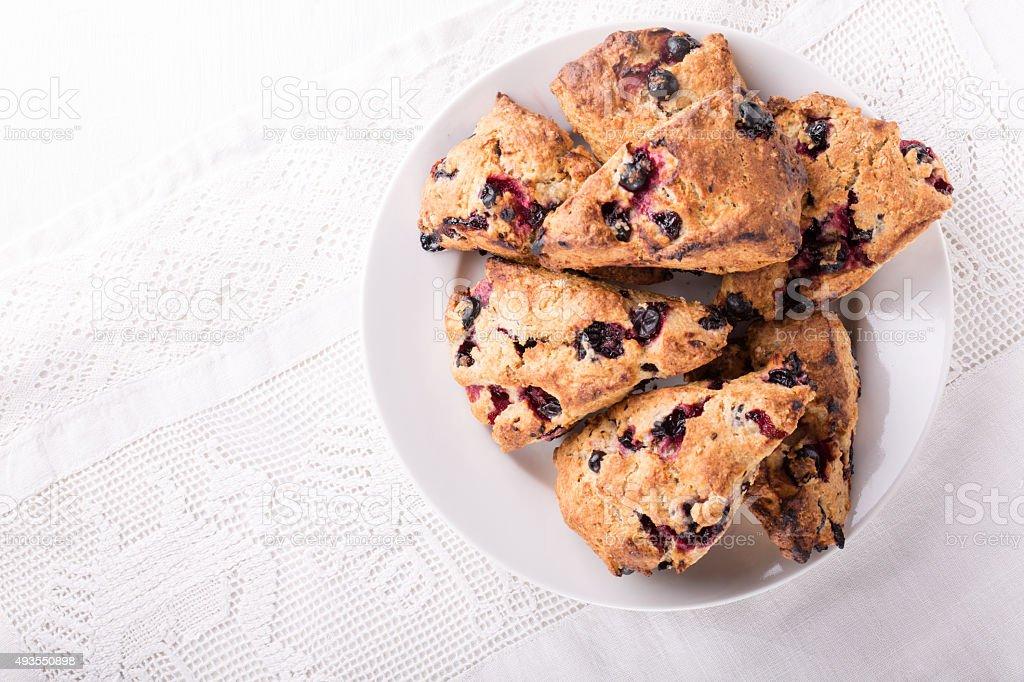 Currant scones stock photo