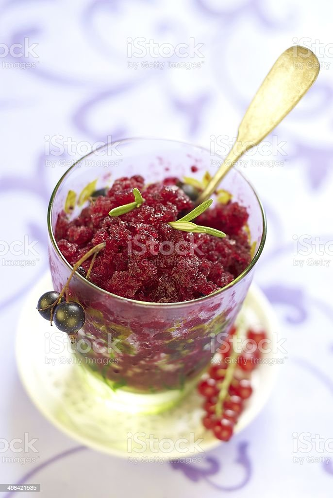 Currant sorbet royalty-free stock photo