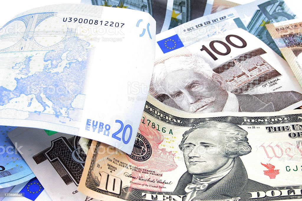 Currencies stock photo