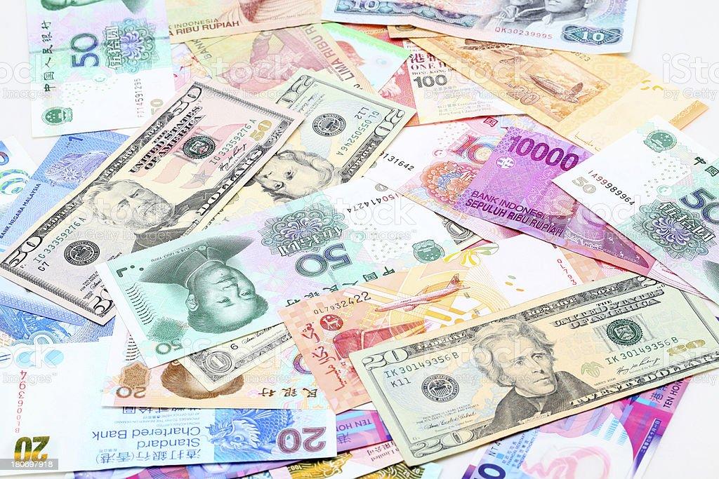 Currencies stock photo