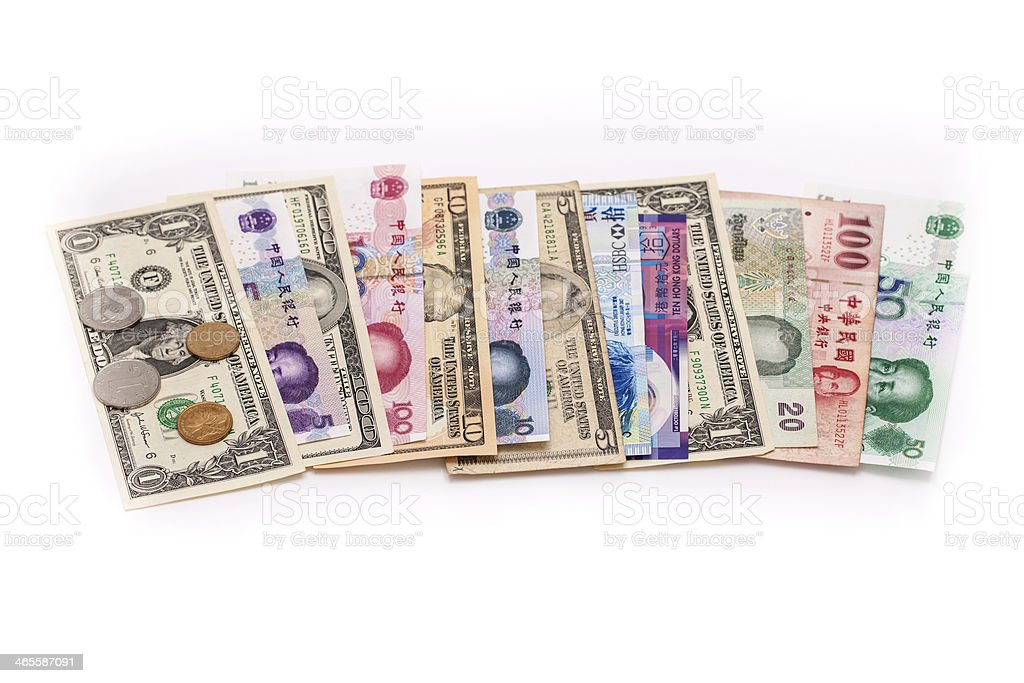 Currencies royalty-free stock photo