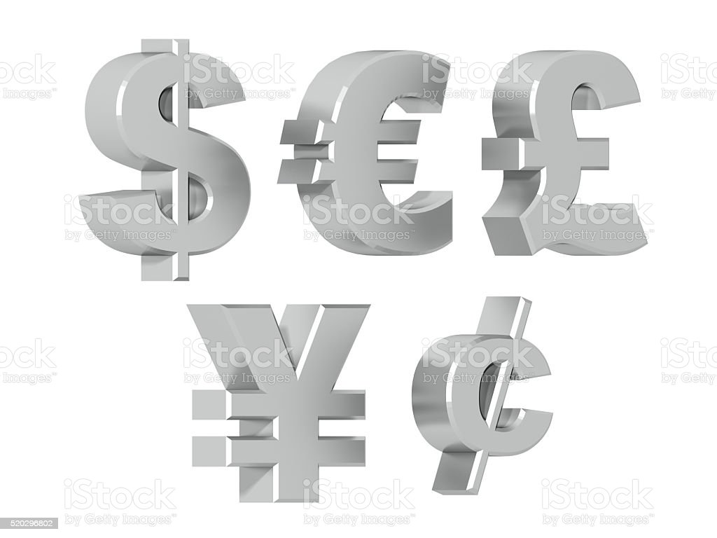 Currencies - Silver stock photo