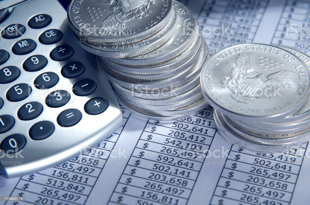 Currency and Calculations stock photo