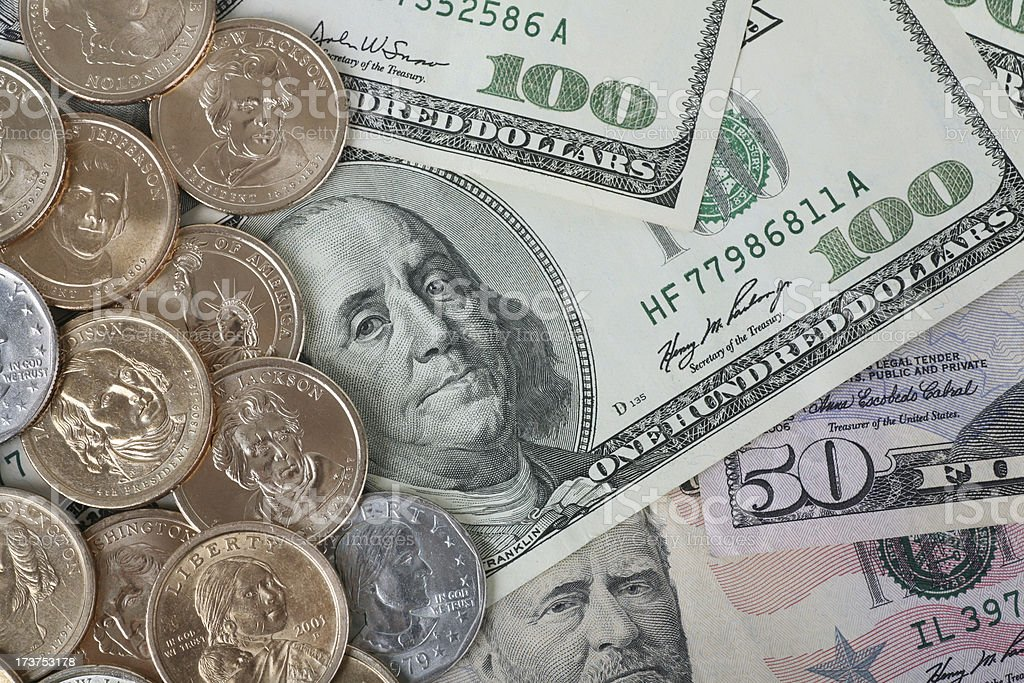 Currency and Coins stock photo