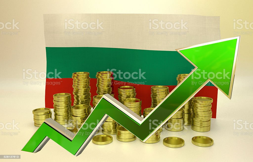 currency appreciation - Bulgarian lev stock photo