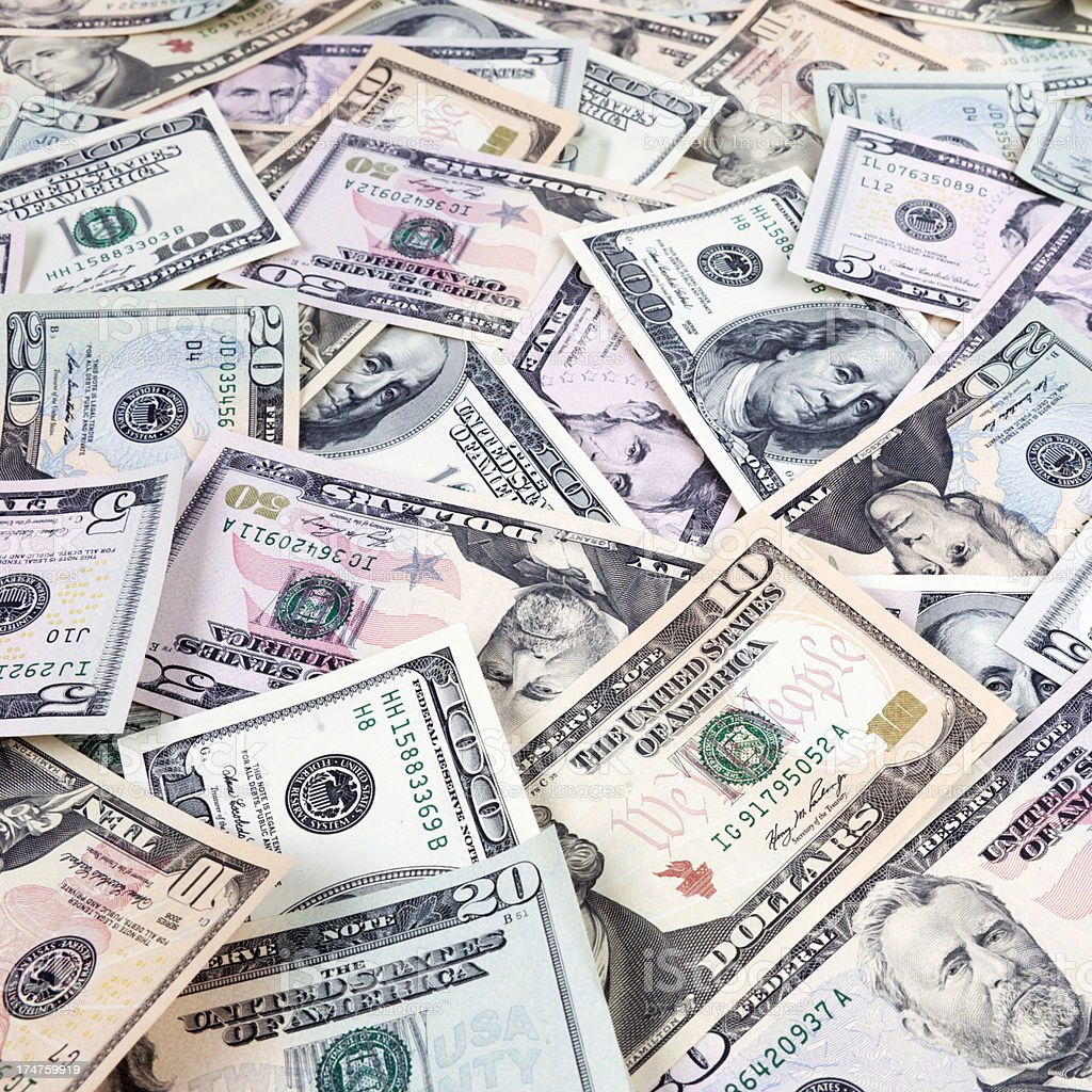 US Currency Background stock photo