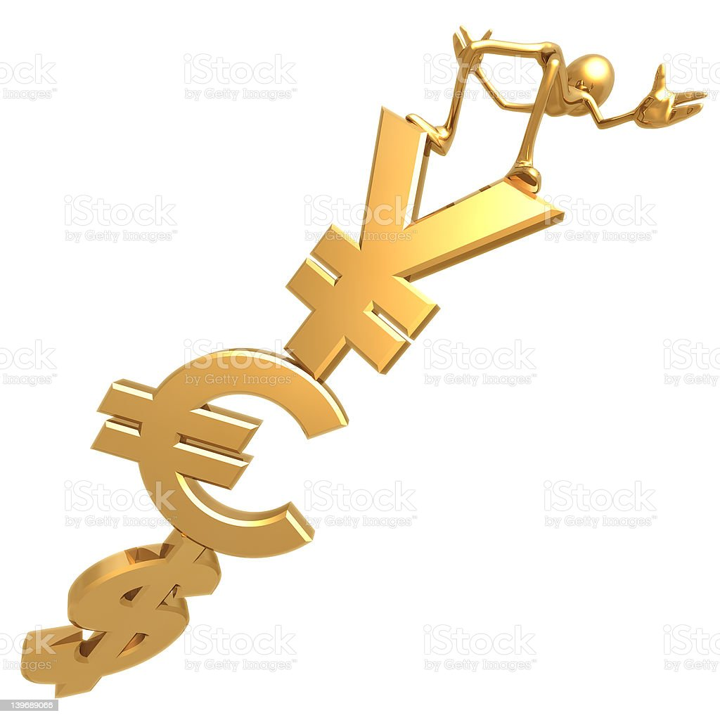 Currency Balance 02 royalty-free stock photo