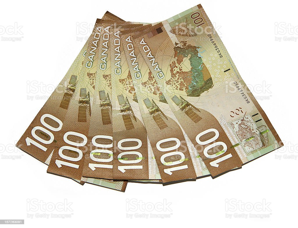 Currency - Canadian Hundreds stock photo
