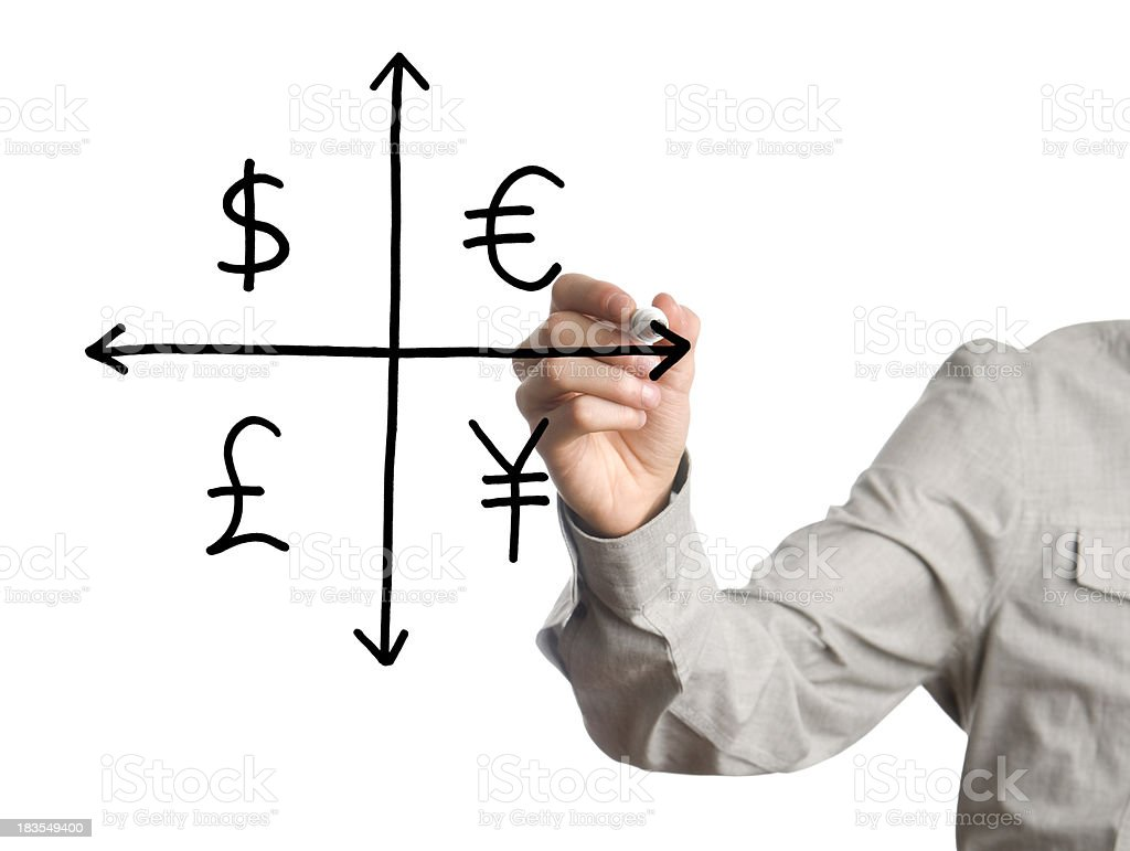 currency chart royalty-free stock photo