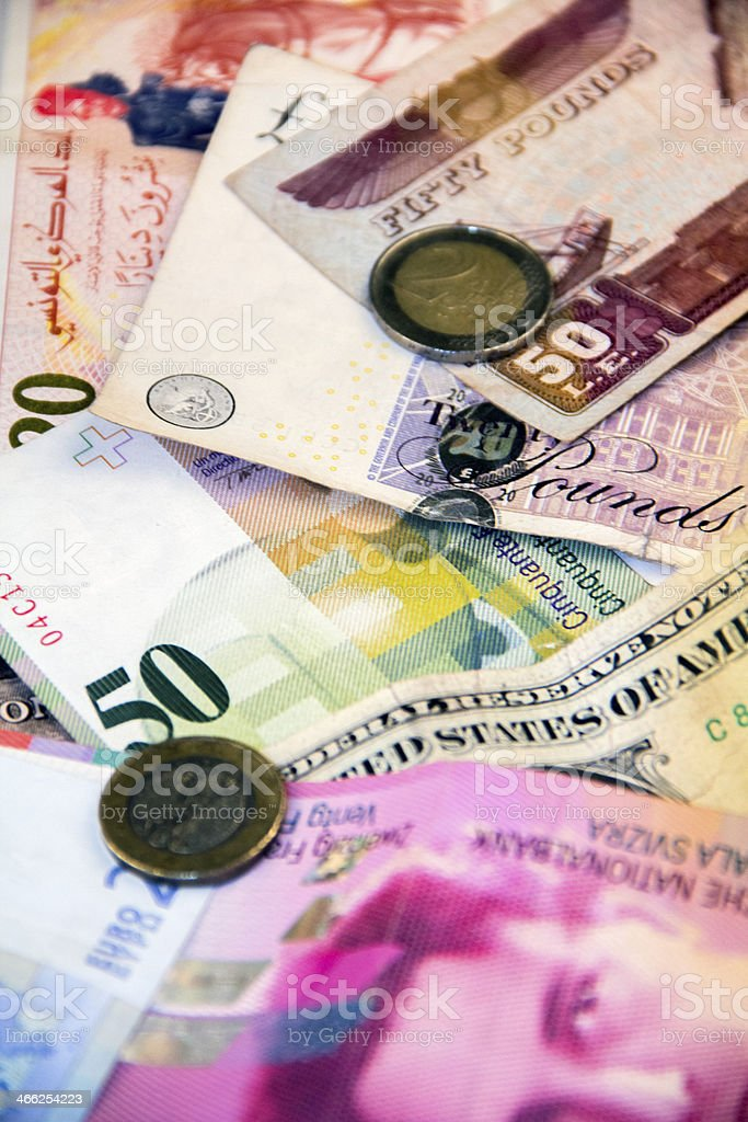 currency close-up stock photo