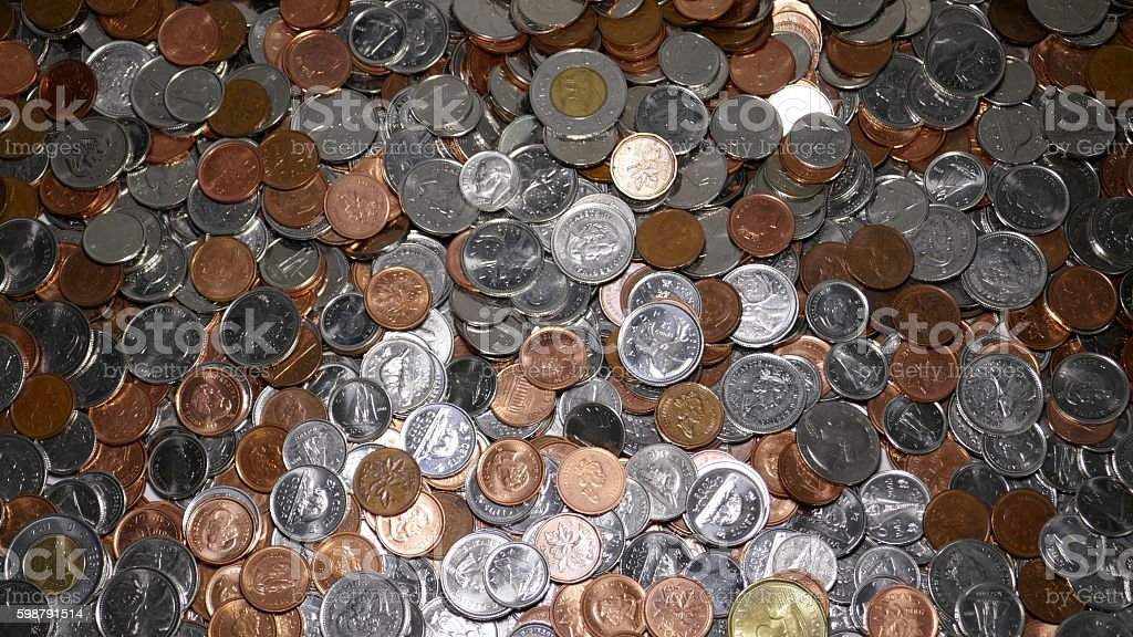 Currency Coins stock photo