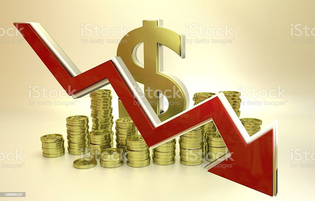 currency collapse - dollar stock photo