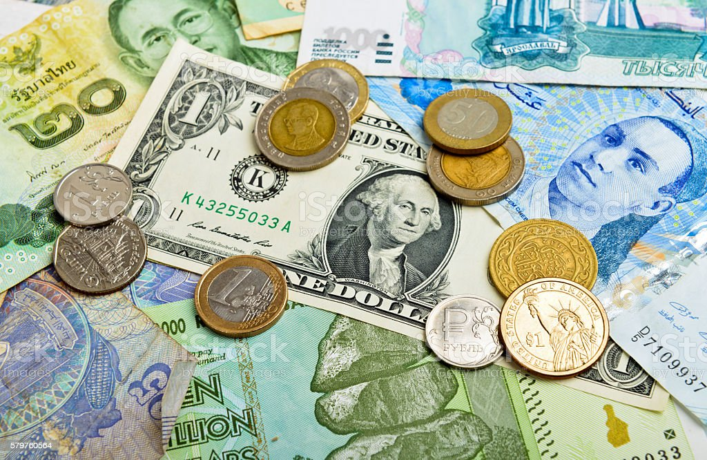 currency collection stock photo
