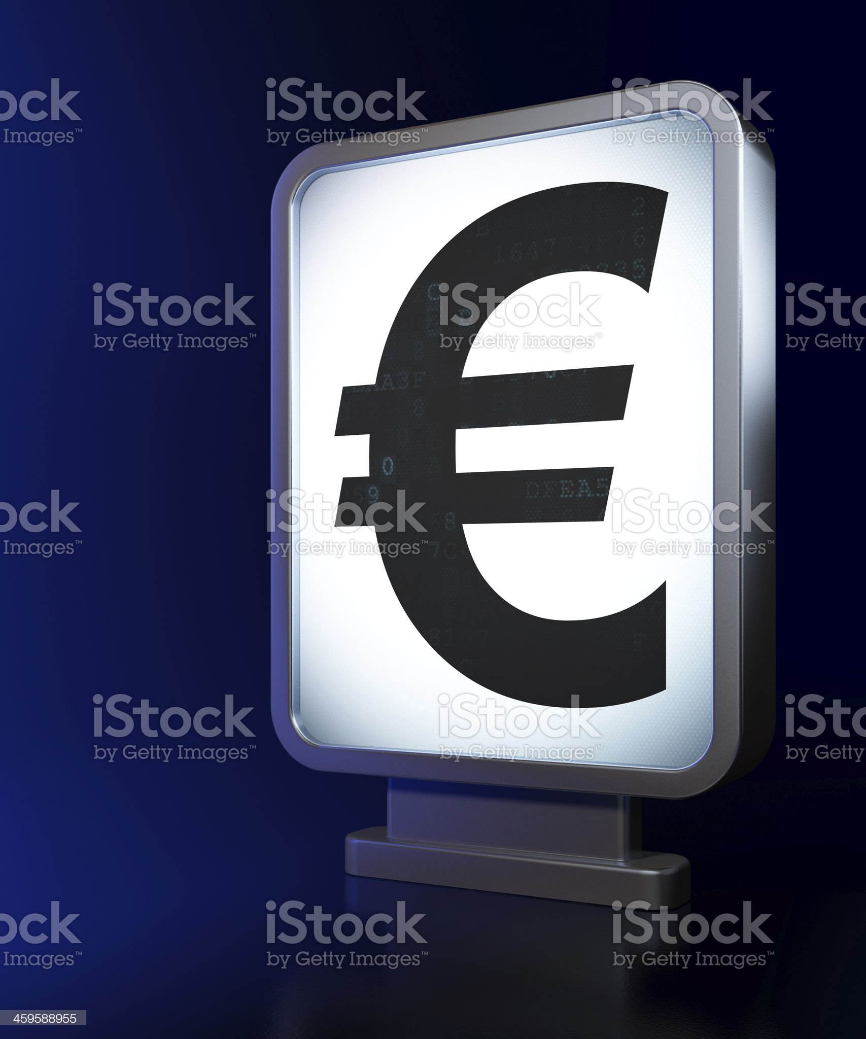 Currency concept: Euro on billboard background royalty-free stock photo