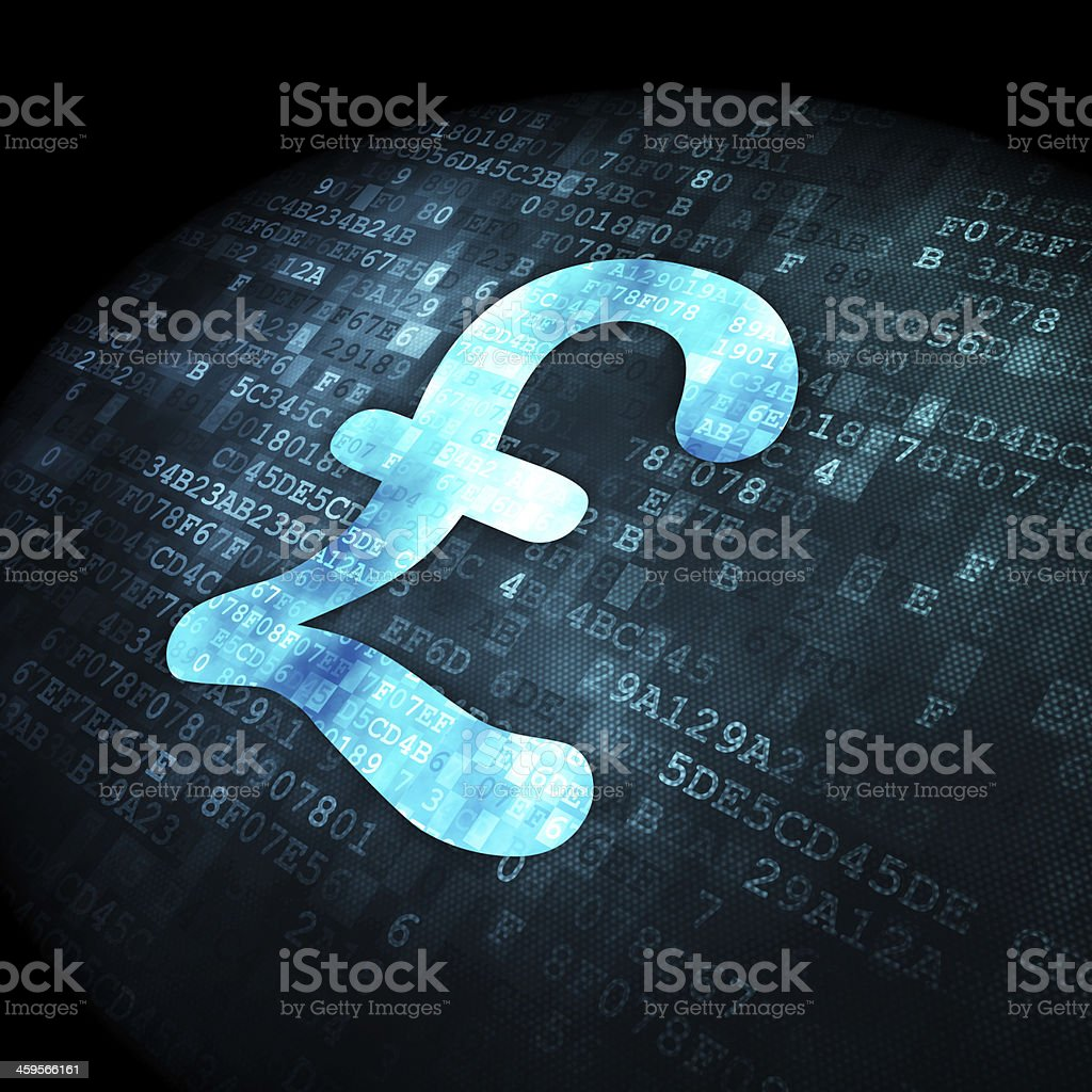 Currency concept: Pound on digital background stock photo