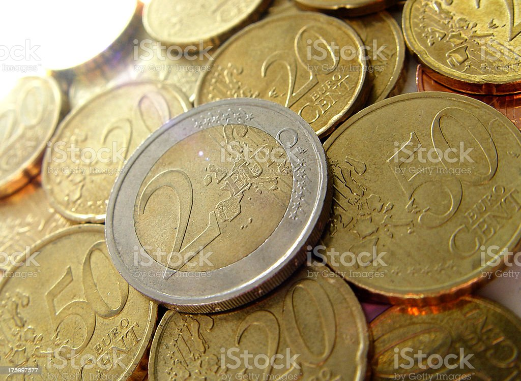 Currency Euros royalty-free stock photo