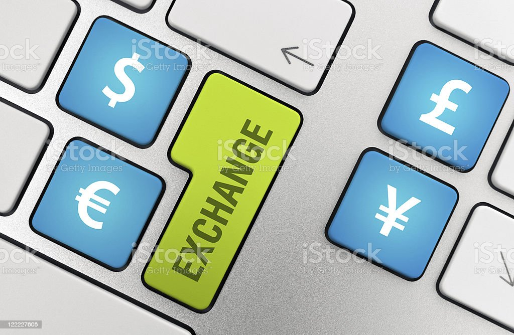 Currency Exchange Concept royalty-free stock photo