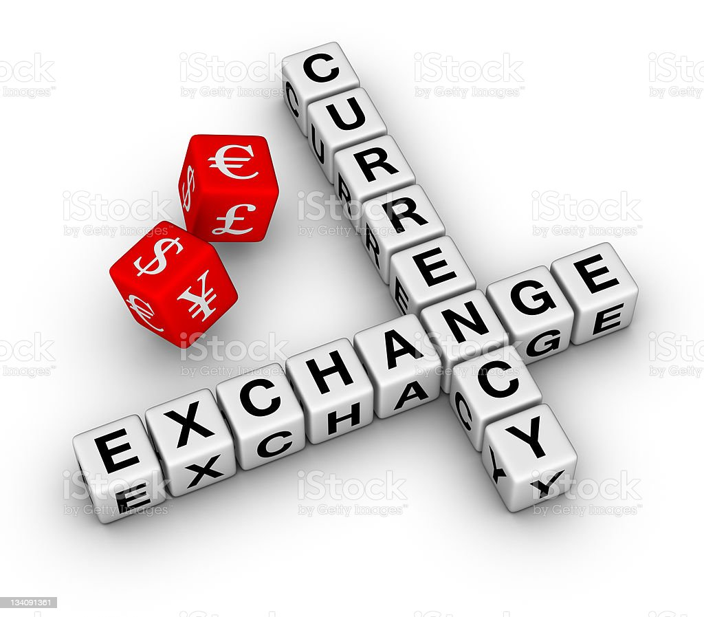 currency exchange dice royalty-free stock photo