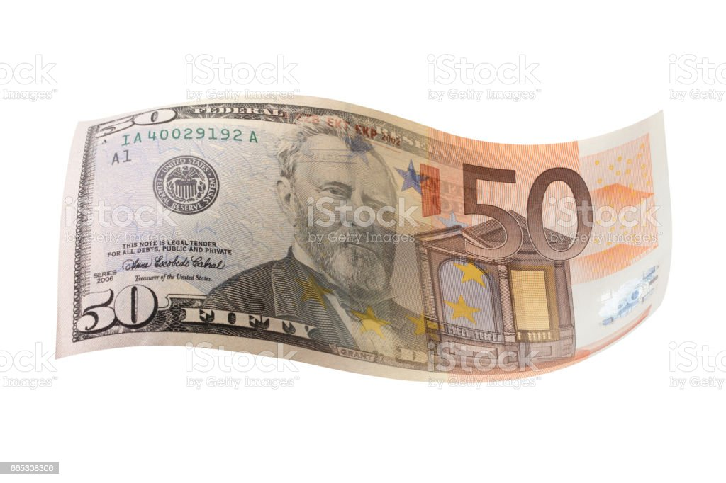Currency exchange. Dollar. Euro. stock photo