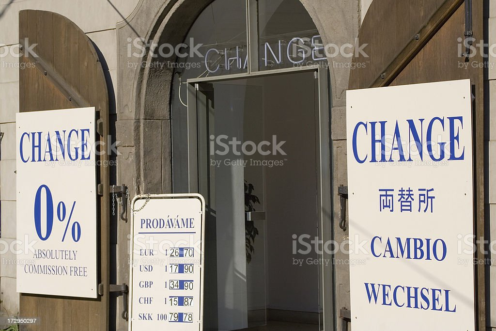 Currency exchange office royalty-free stock photo