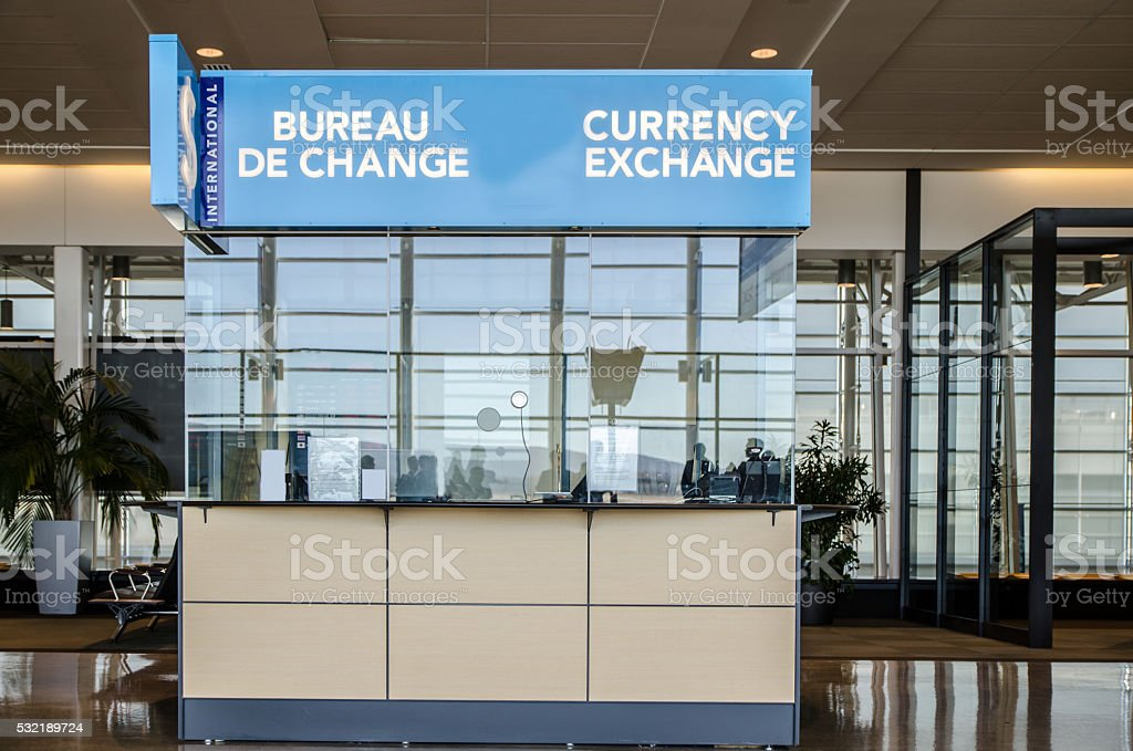 Currency Exchange Office stock photo