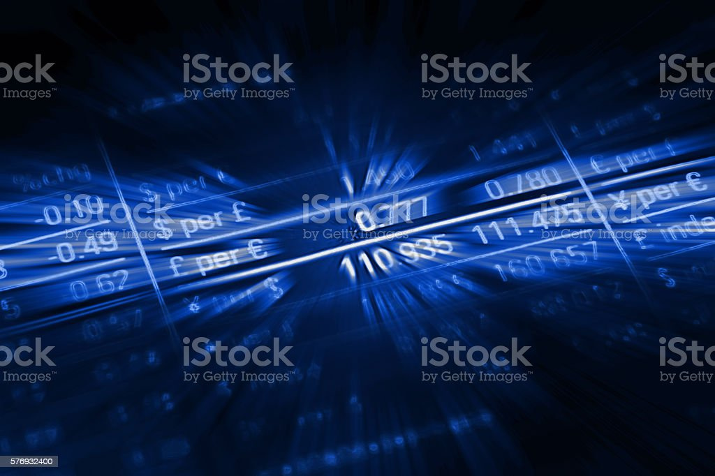 Currency exchange rate finance stock market data fintech stock photo