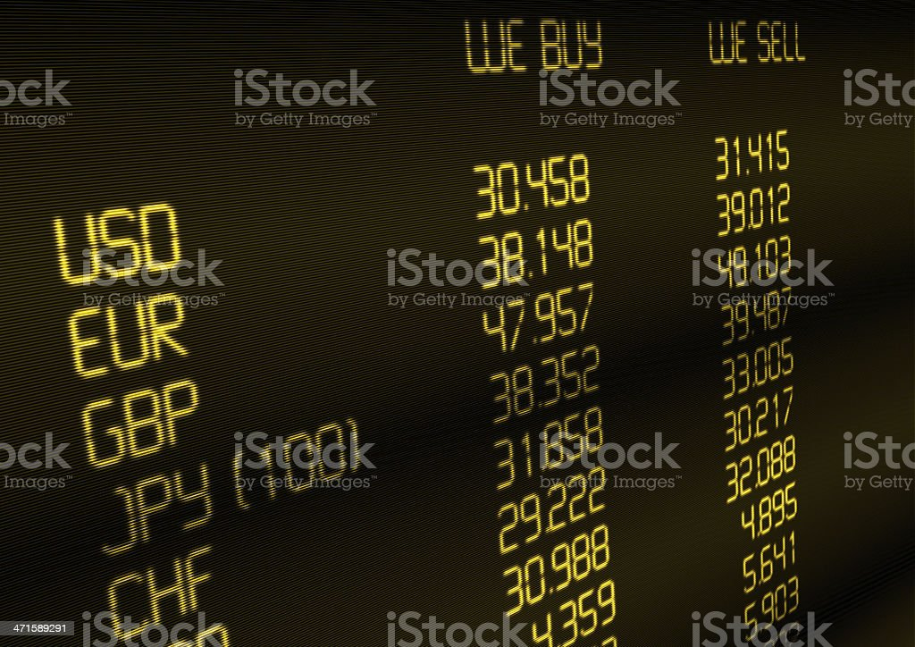 Currency Exchange Rate royalty-free stock photo