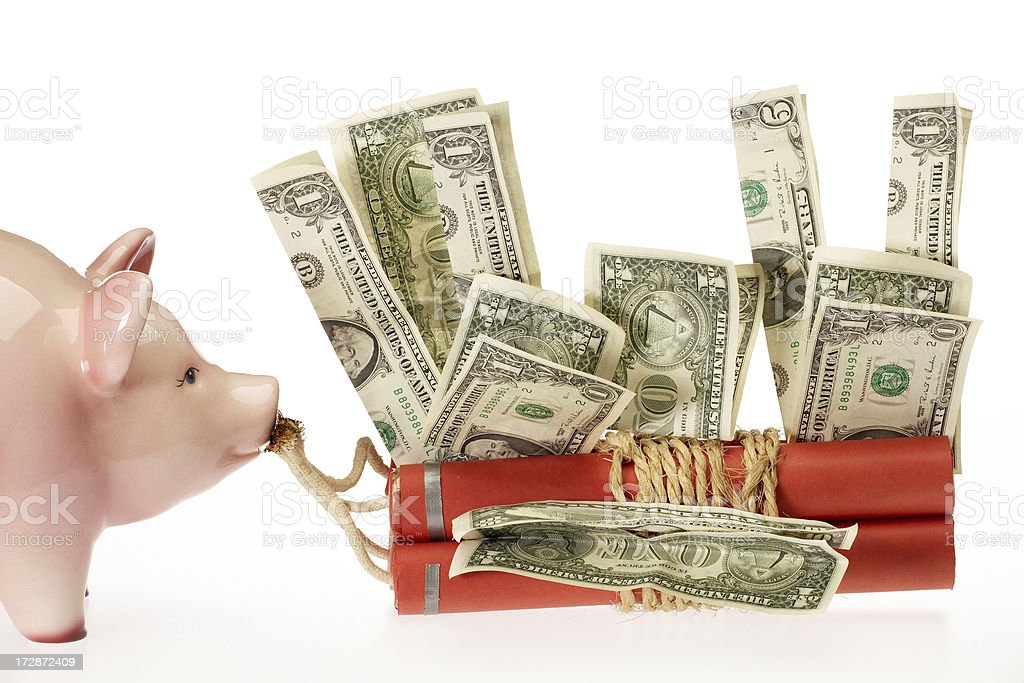 Currency explosion royalty-free stock photo