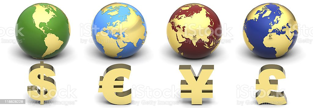 Currency Globe royalty-free stock photo