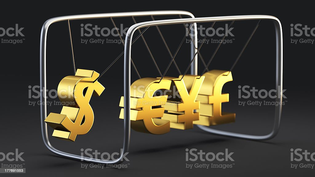 Currency instability royalty-free stock photo