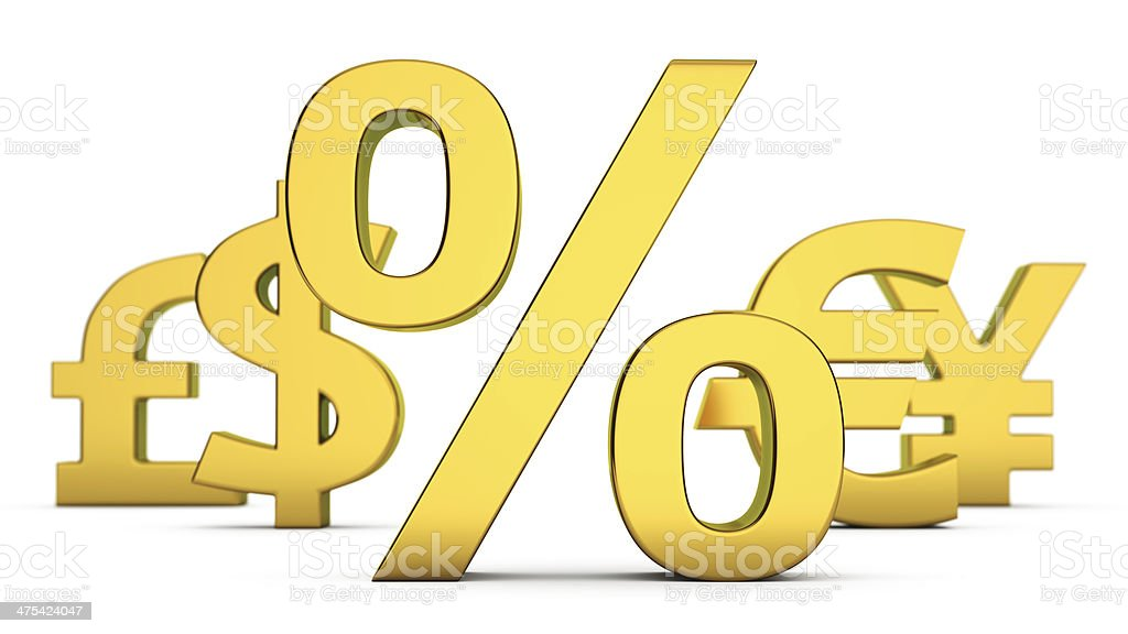Currency interest stock photo