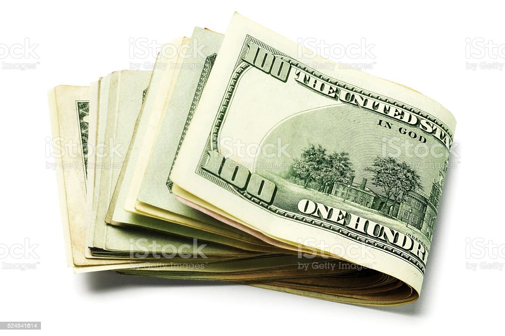 US Currency Notes stock photo