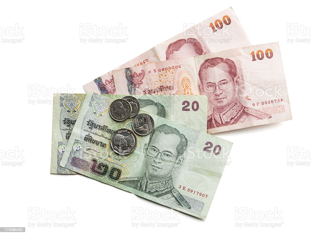 Currency of Thailand royalty-free stock photo