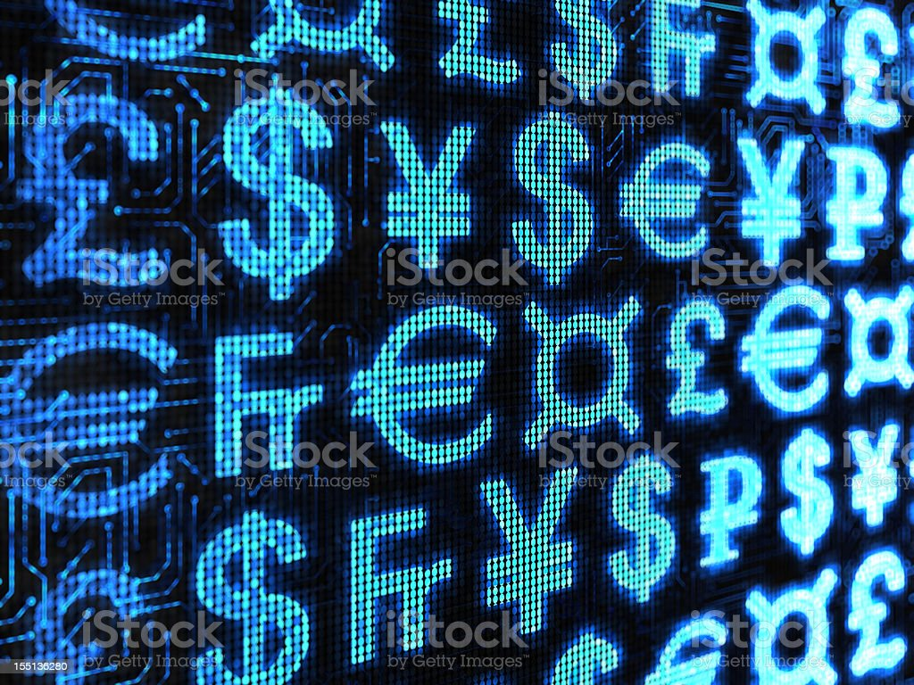 Currency of the world & Generic symbol stock photo