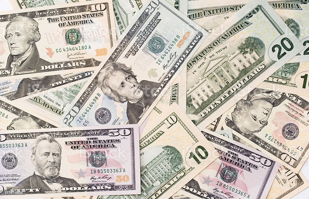 Currency of USA royalty-free stock photo