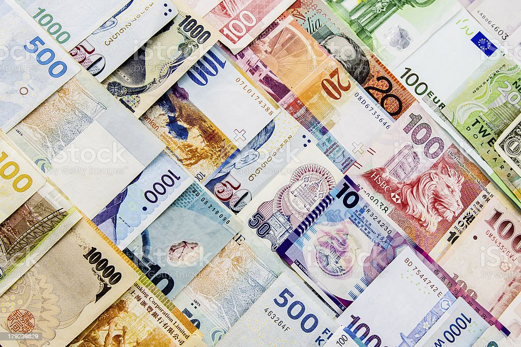 Currency paper stock photo