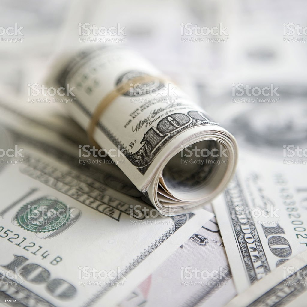 US currency stock photo