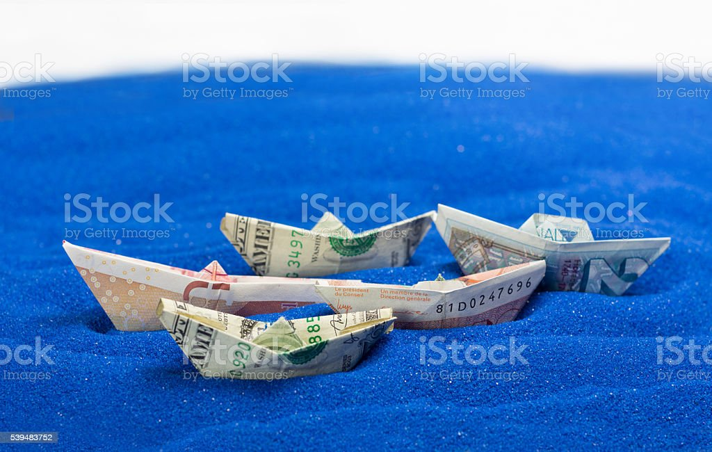 USD GBP EU currency stock photo
