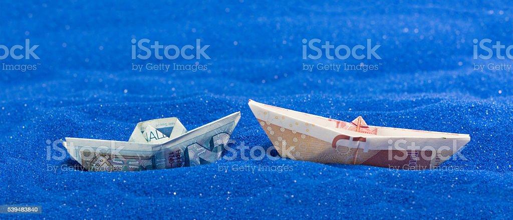 GBP EU currency stock photo