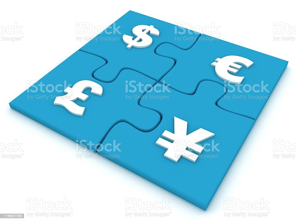 Currency Puzzle royalty-free stock photo