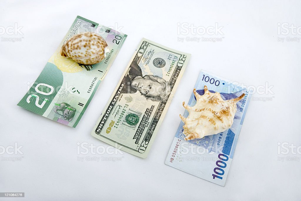 Currency shell game concept image. royalty-free stock photo