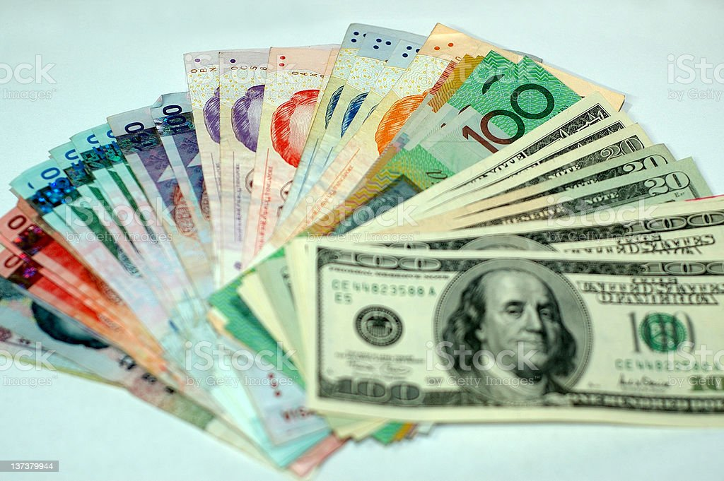 Currency Spread royalty-free stock photo