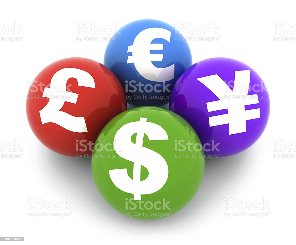Currency Symbols royalty-free stock photo